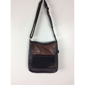 The Sak Iris Bronze Leather Crossbody Bag
